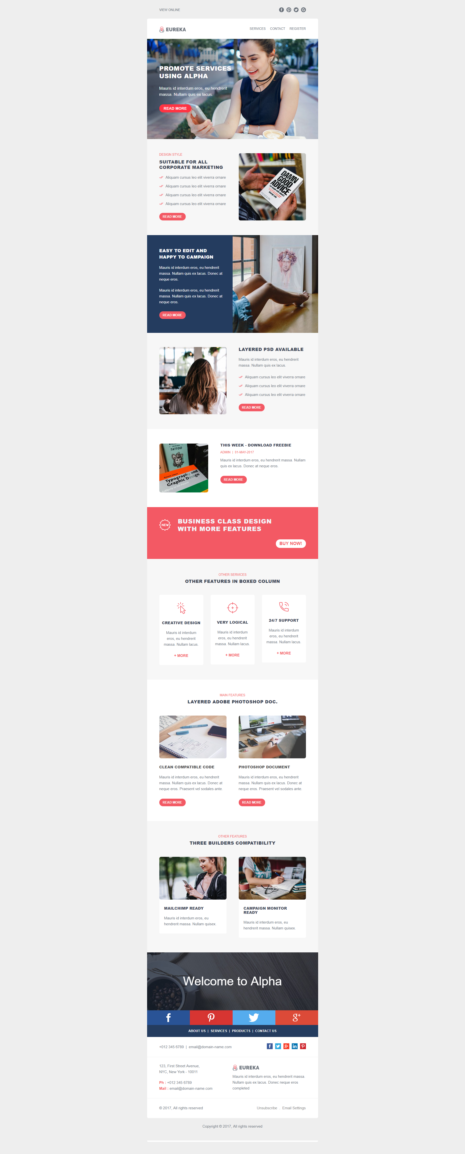 Design Editable Responsive Html Email Template Newsletter
