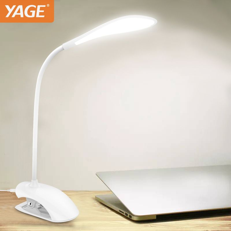 Yage desk lamp usb table lamp 14 led table lamp with clip reading bed light led