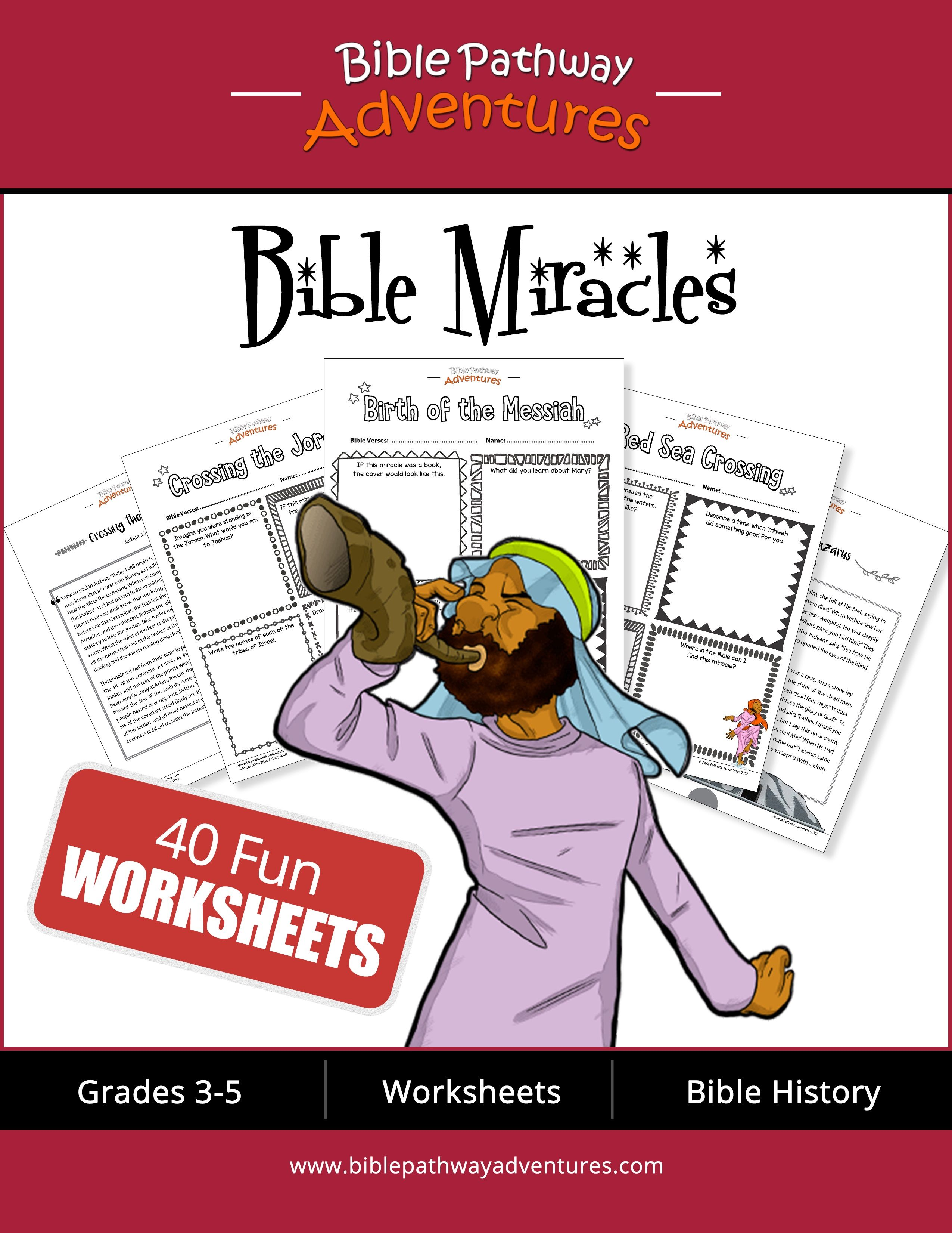 Bible Miracles And Worksheets
