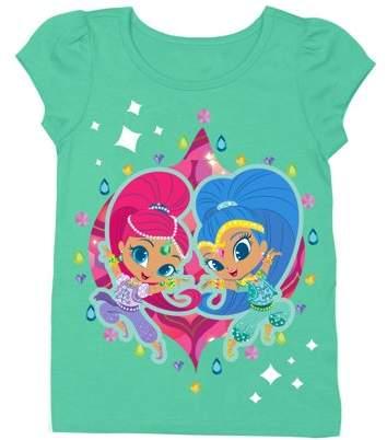 3a990da98e SHIMMER & SHINE Shimmer & Shine Short Sleeve Puff Tee (Toddler Girls)