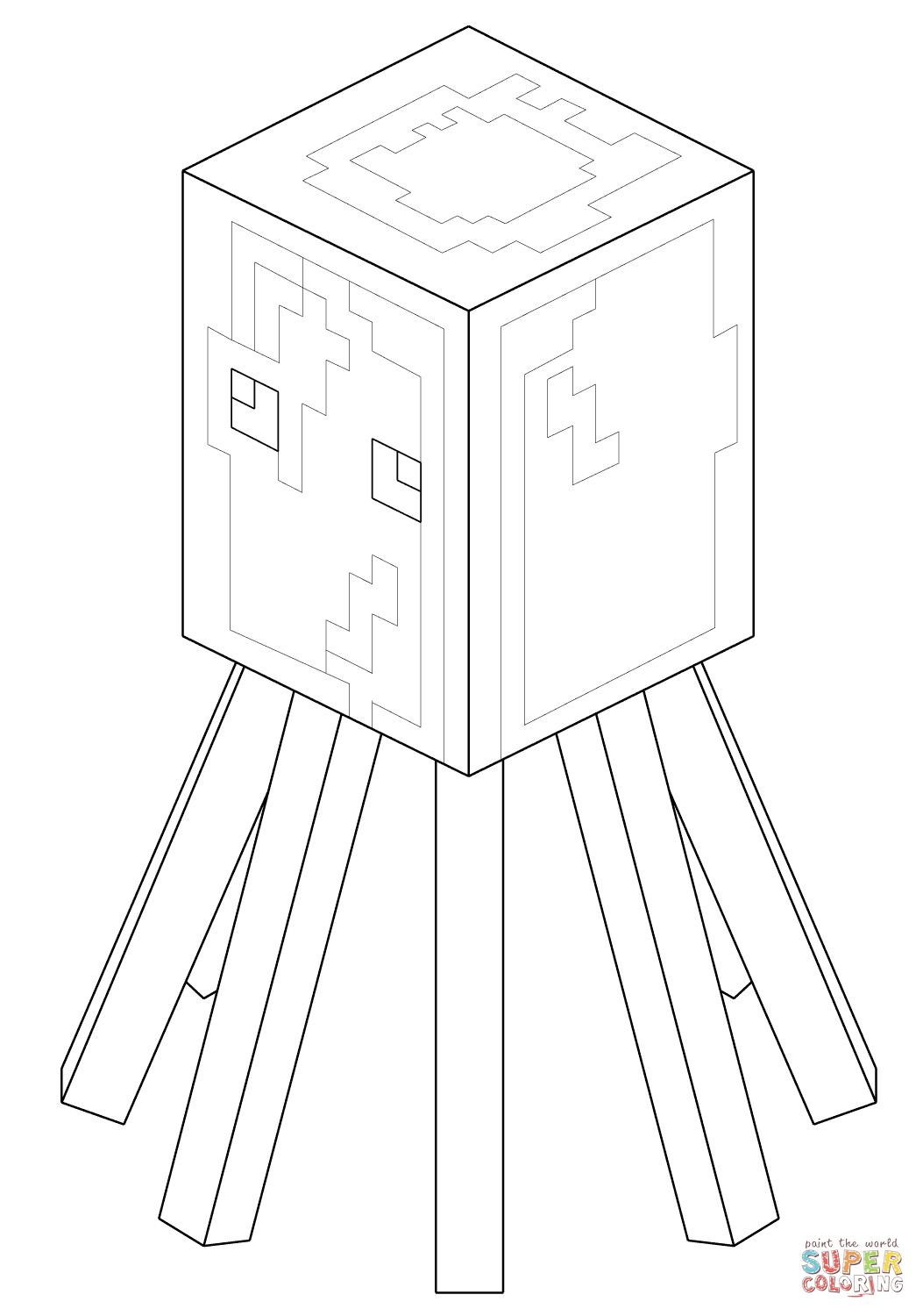Minecraft Squid Minecraft Coloring Pages Coloring Pages Minecraft