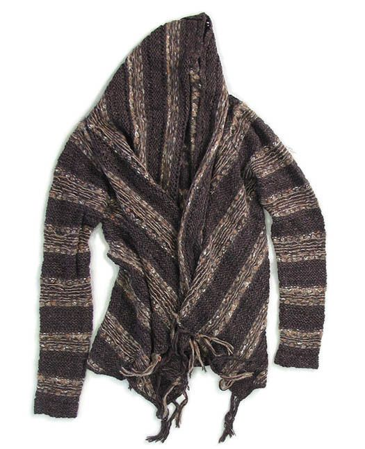 Free People Brown Driftwood Chunky Knit Wrap - Revolver
