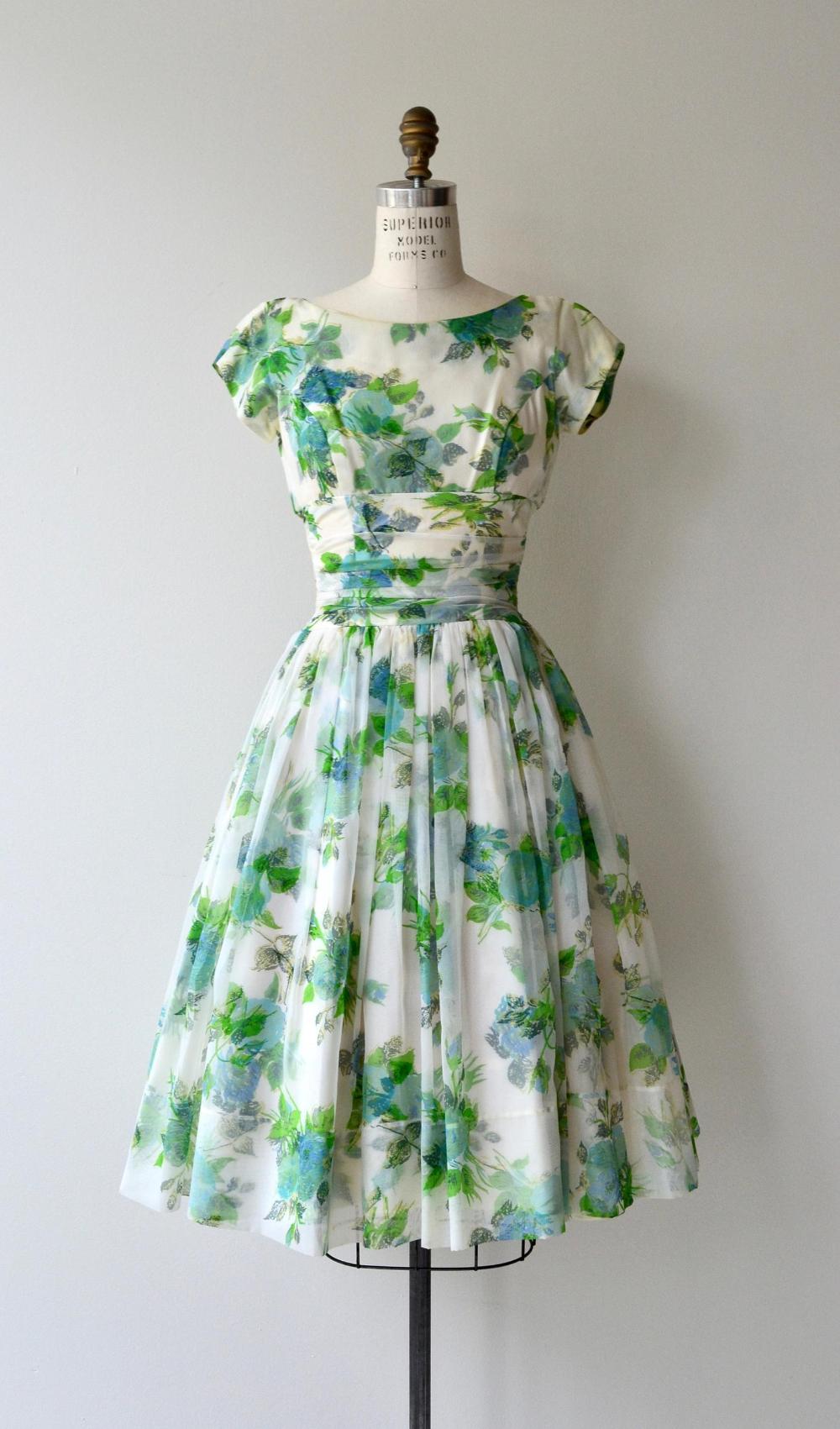 Hatton Garden Dress 1950s Floral Dress Floral 50s Dress Vintage Summer Dresses 1950s Dress Vintage Dresses Online