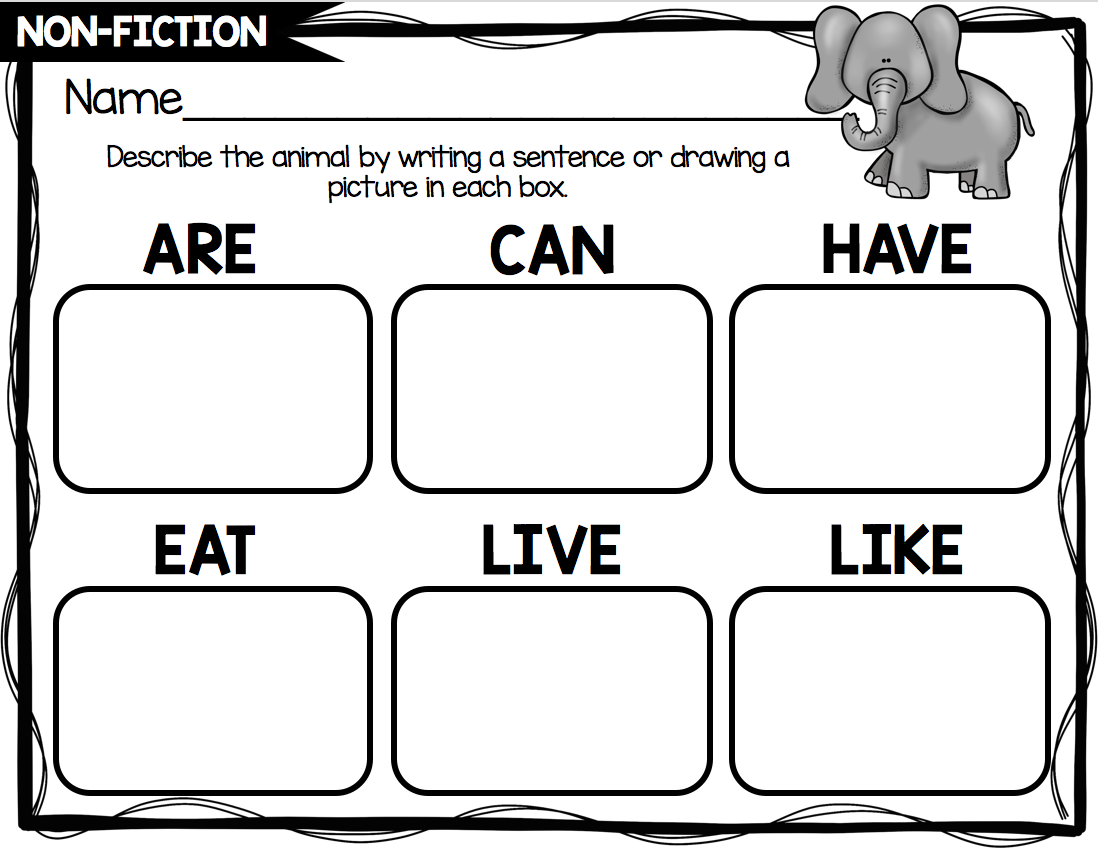 Non Fiction Writing Unit Freebie With Images