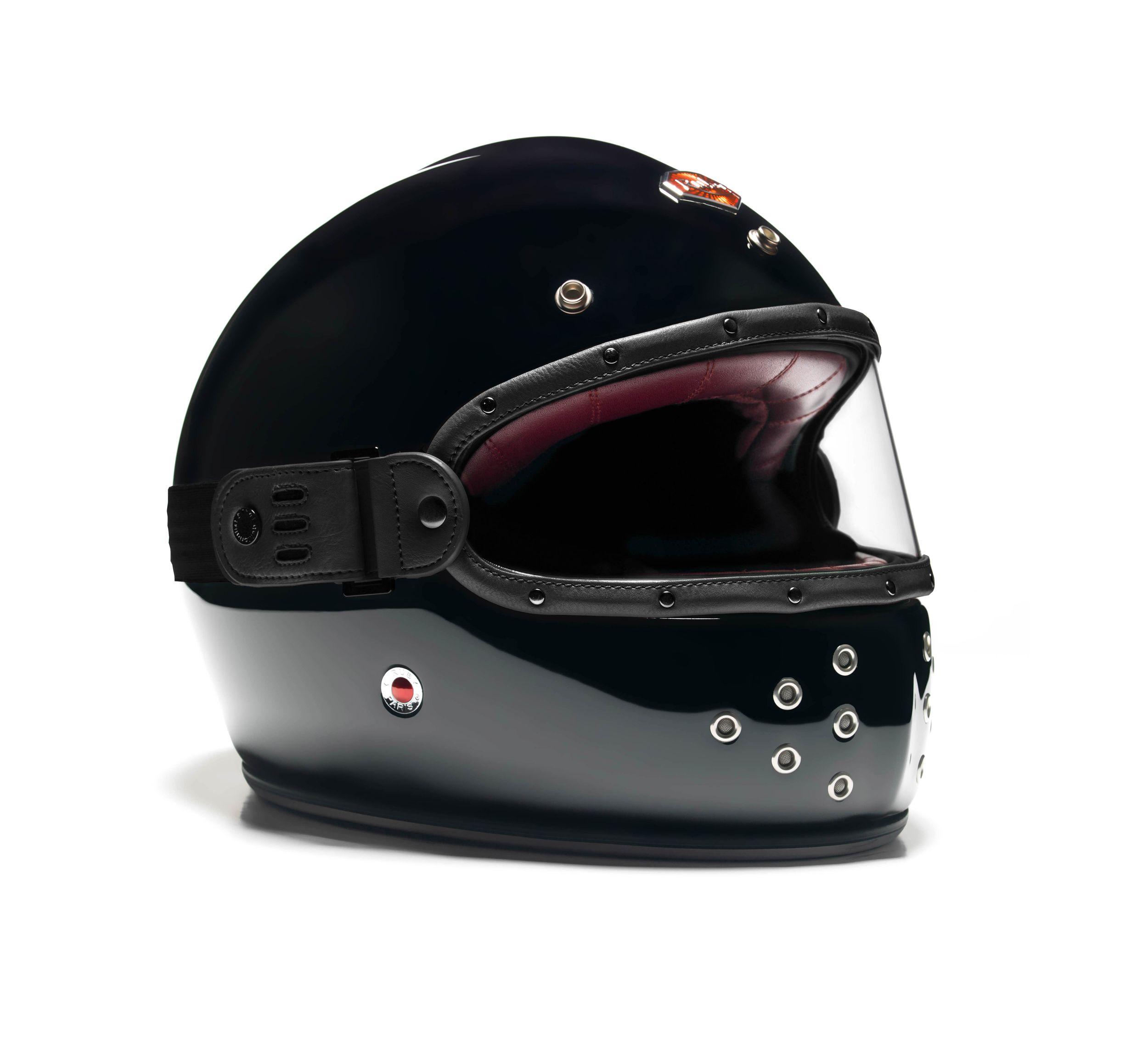 Felix Mask Clear Visor Black Full Face Helmets Helmet Retro Helmet