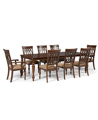 Crestwood Dining Room Furniture 9 Piece Set Dining Table 6 Side Chairs And 2 Arm Chairs Dining Room Furniture Collections Dining Room Style Dining Room Sets