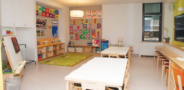 Calming Classroom Concept simple colours and space to move around ...