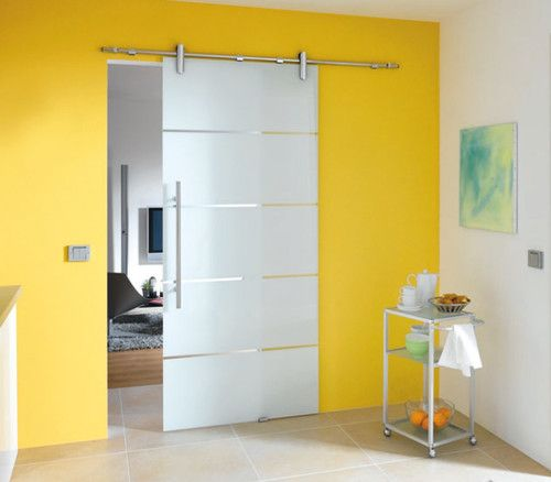 Modern Barn Style Glass Sliding Door System Contemporary Interior Doors For The Home