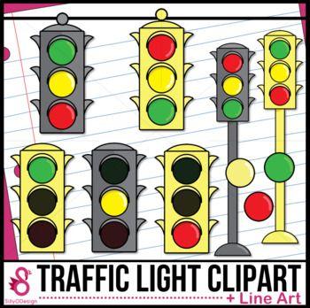 Traffic Light Clipart Clip Art Black White Lines Traffic Light