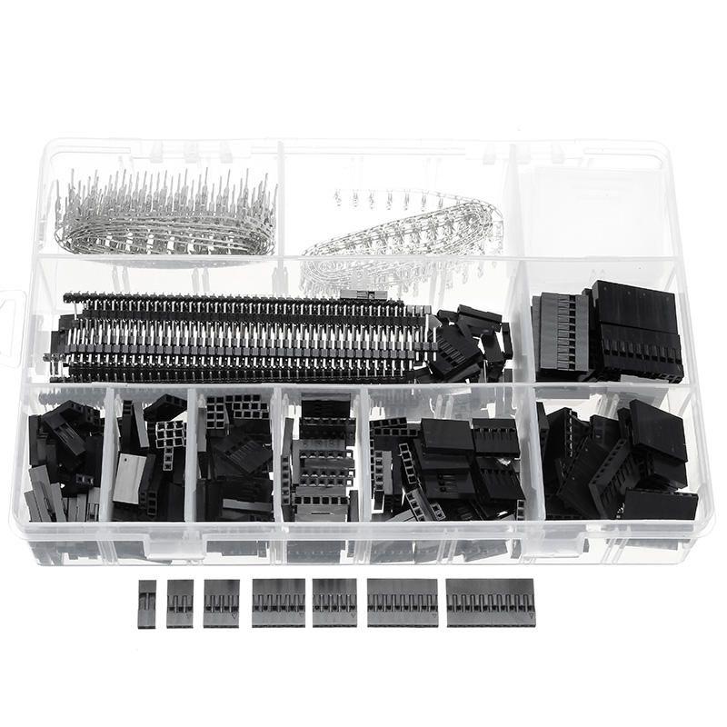 Excellway® TC10 670Pcs Wire Jumper Header Connectors M/F Crimp Pins ...