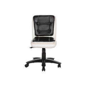 LIBRANEJAR LB WORKSTAION CHAIR WHITE AND BLACK  modular Office Furniture, Office visitors chairs, Workstation Chairs, buy office chairs online