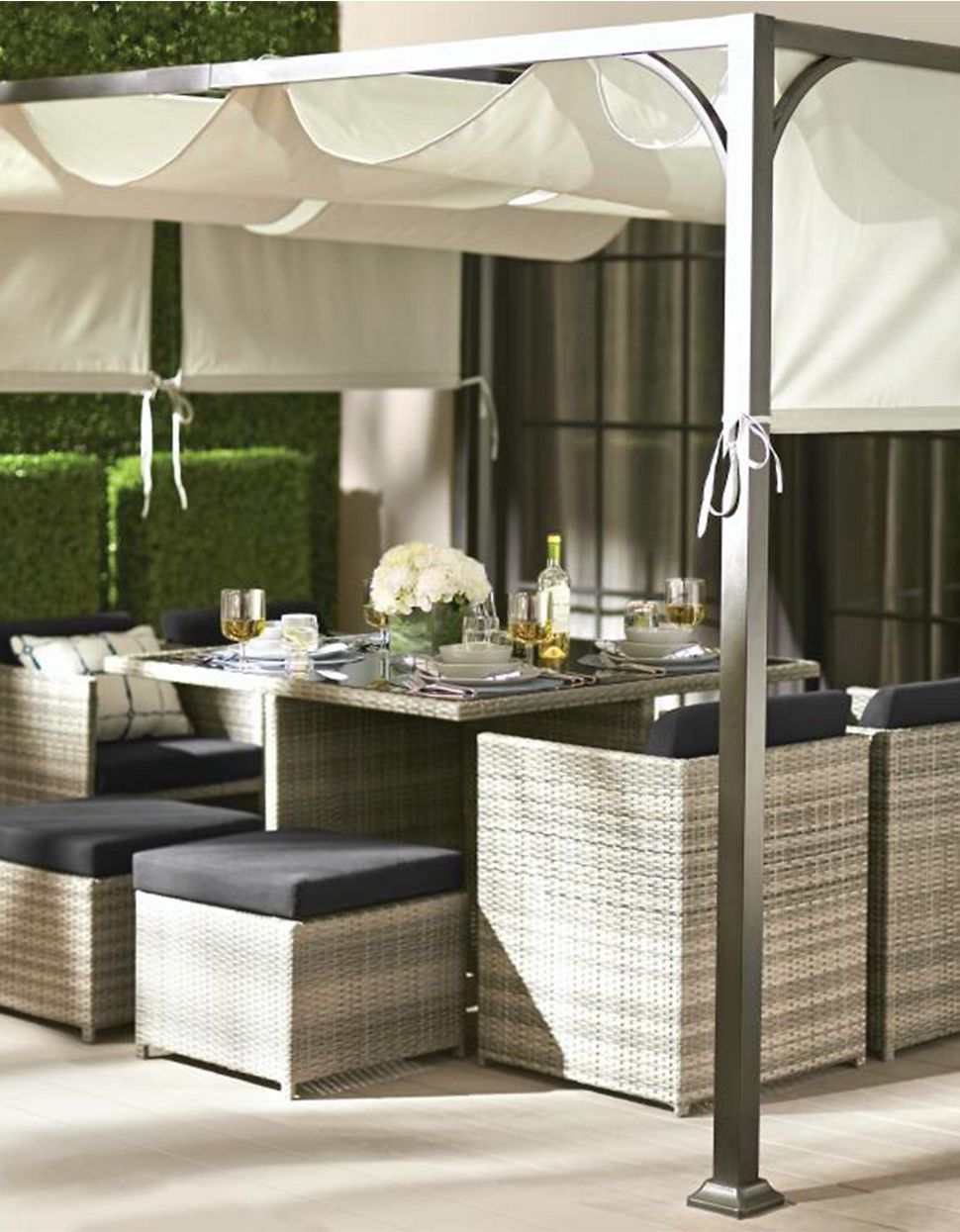 Smart Yet Stylish, This GlucksteinHome Dining Set Nests Together Making It  The Savvy Choice Where Space Is At A Premium. Porto Dining Set And  Sunshade, ... Part 14