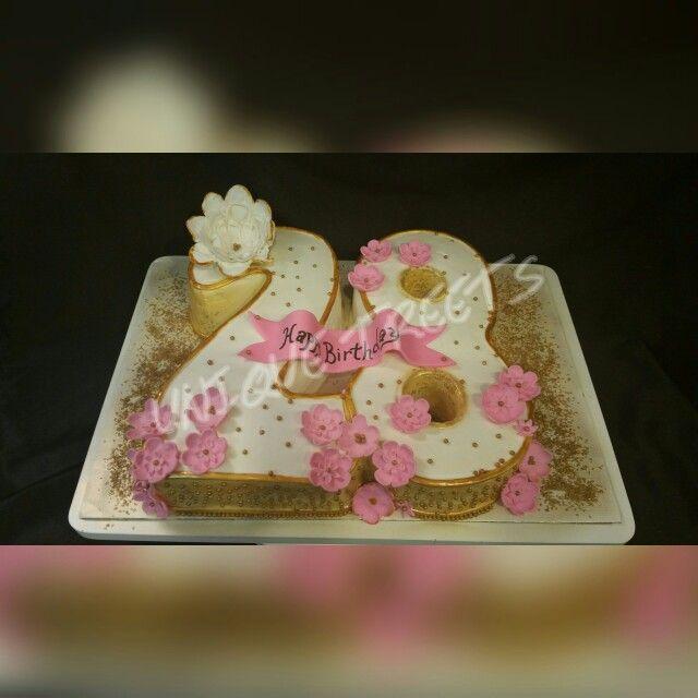 28 Th Birthday Cake Pink Gold 28th Birthday Ideas New
