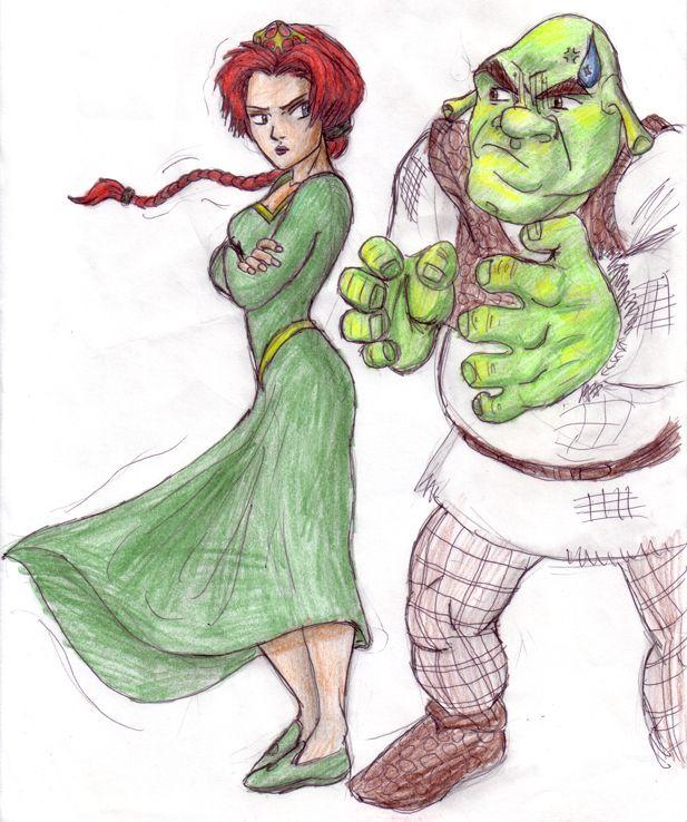 Shrek And Princess Fiona By Jesusismyhomie On Deviantart Princess Fiona Princess Cartoon Shrek