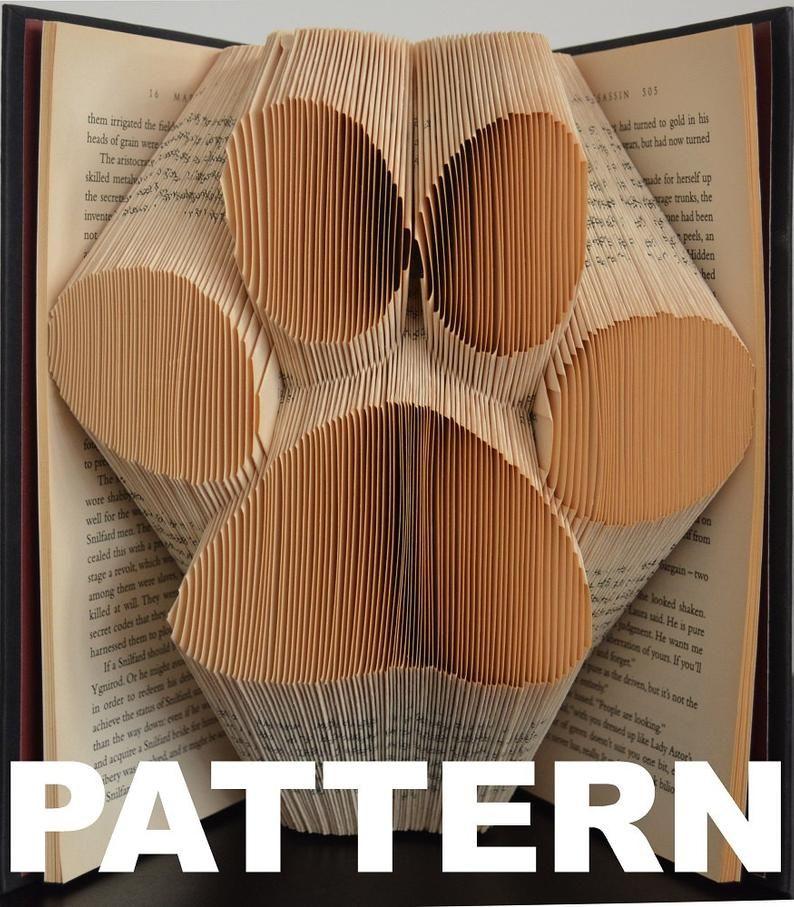 Book folding pattern large paw print free instructions