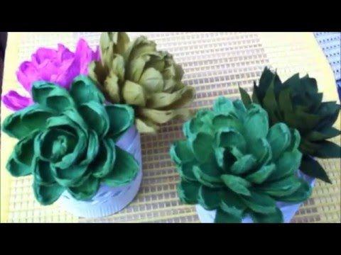 Paper flower easy succulent plant youtube origami flowers how to make paper flower succulent plant flower mightylinksfo