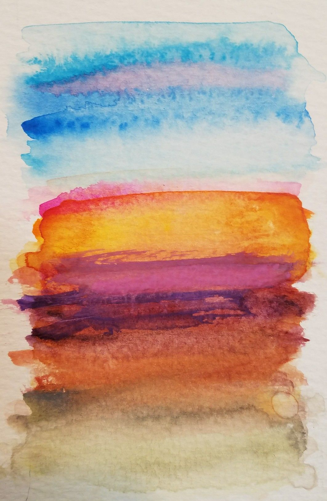 Desert Color Palette Desert Colors Watercolor Illustration