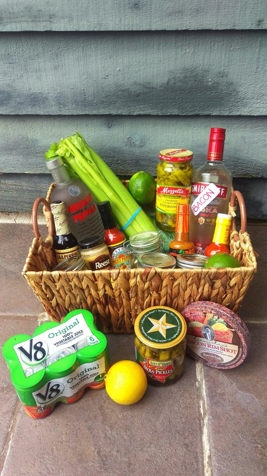 Bloody Mary Gift Basket | Burlap, Gift and Basket ideas