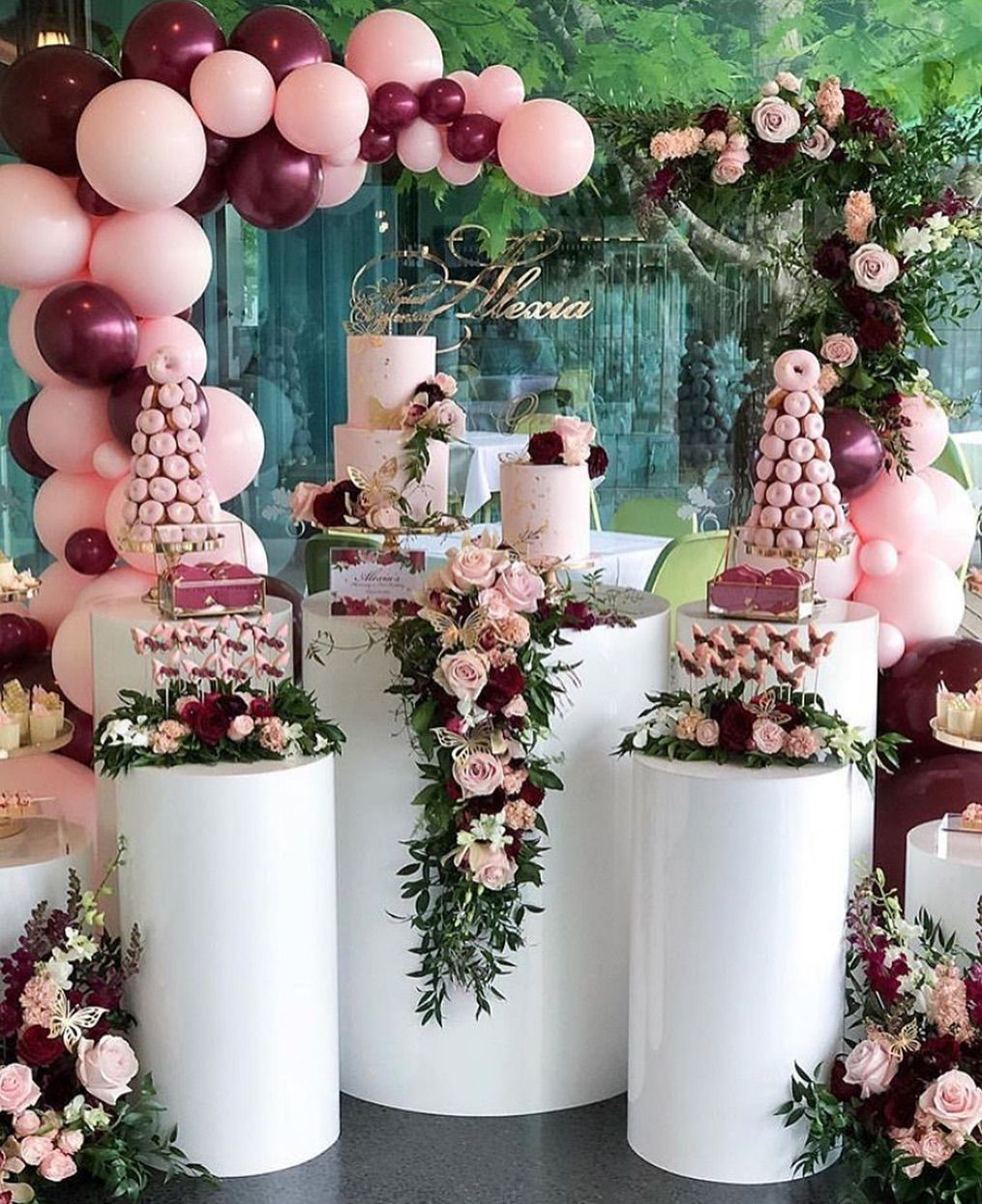 Plan Your Party With Us On Instagram Beautiful Butterfly Inspired Candy Bar Ball Birthday Party Decorations Birthday Table Decorations Birthday Decorations