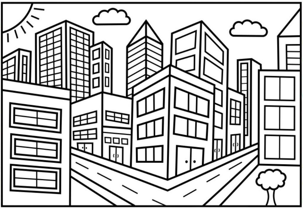 City Coloring Pages Toddler coloring book, Christmas
