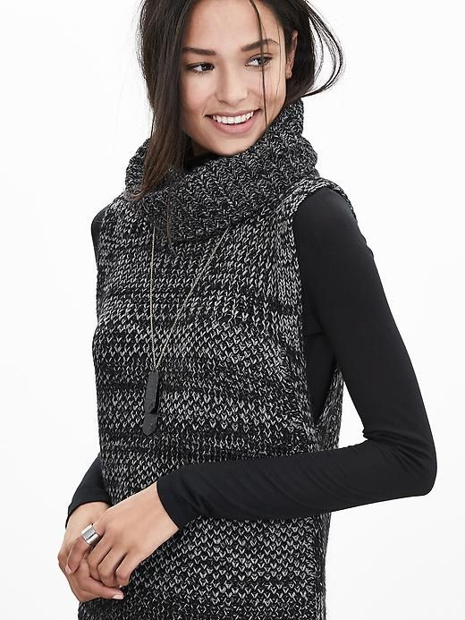 Sleeveless Turtleneck Sweater Tunic | Banana Republic | Hair ...