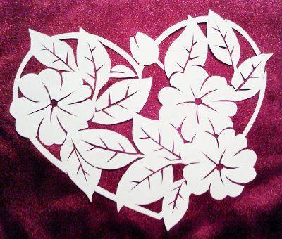 89 Paper Cutting Patterns Flower Folding Paper Flower Garland