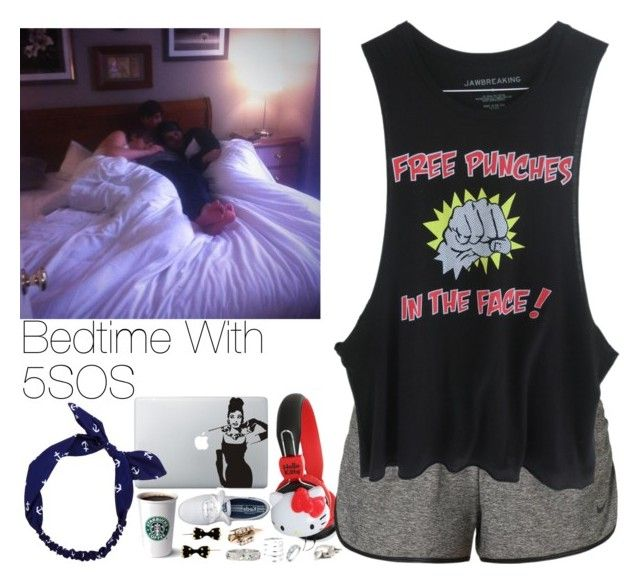 """Bedtime With 5SOS"" by hana-69 ❤ liked on Polyvore featuring NIKE and Charlotte Russe"