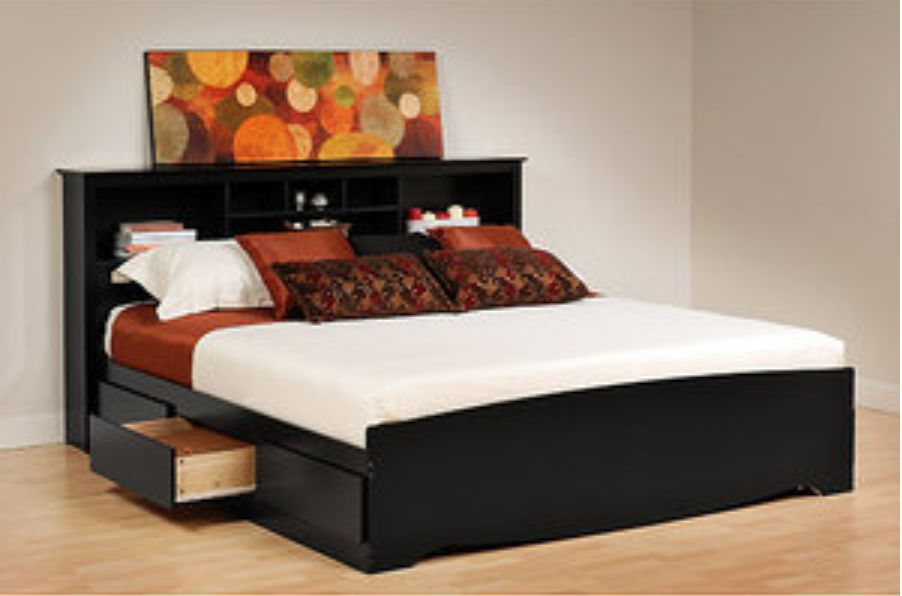 Black King Size Storage Bed Platform Bed With Storage Bed