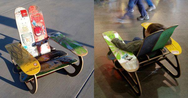 Treehouse Designs Skate Deck Chair