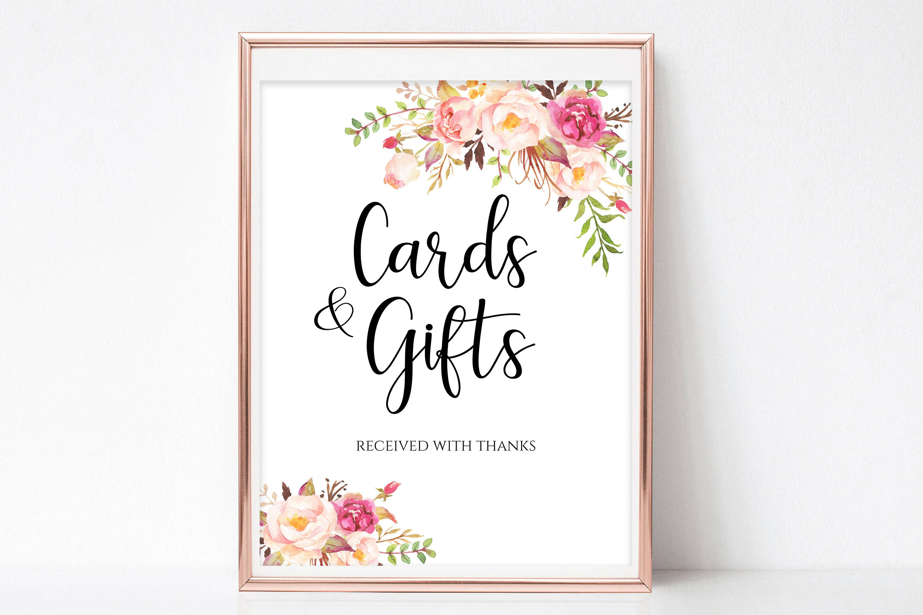 Cards And Gifts Sign Gift Table Sign Cards And Gifts Printable Wedding Sign Template Reception Sign Instant Gift Table Signs Printable Wedding Sign Gifts Sign