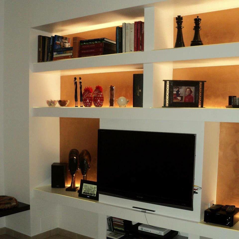 Jesi pareti soggiorno design per il soggiorno e arredamento for Pareti sala in cartongesso