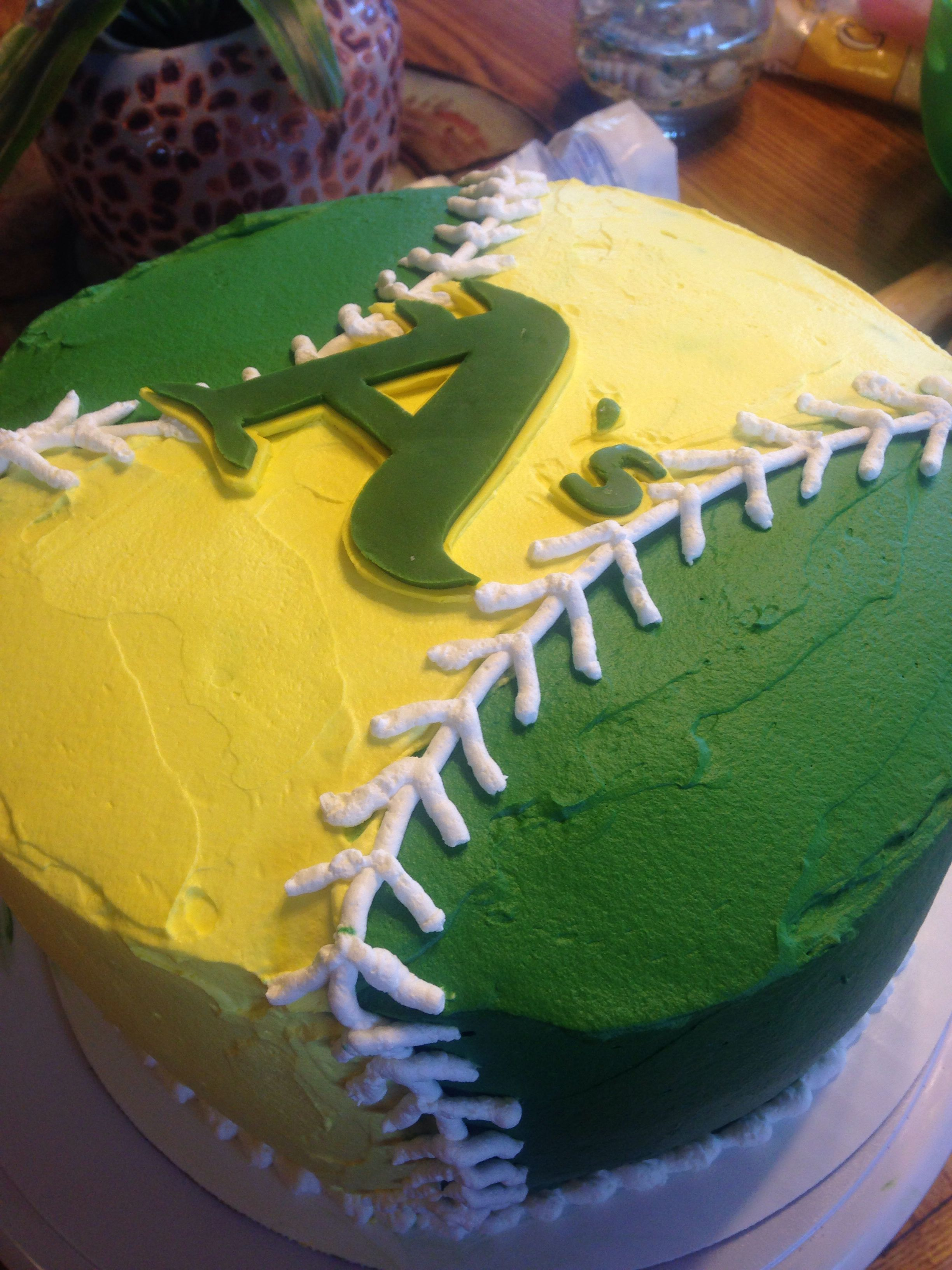 Oakland A S Cake All Whipped Cream Fondant Letters