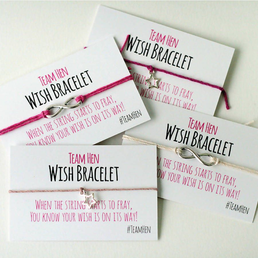 A Gorgeous Collection Of Handmade Wish Bracelets The Perfect Favour For Your Hen Party