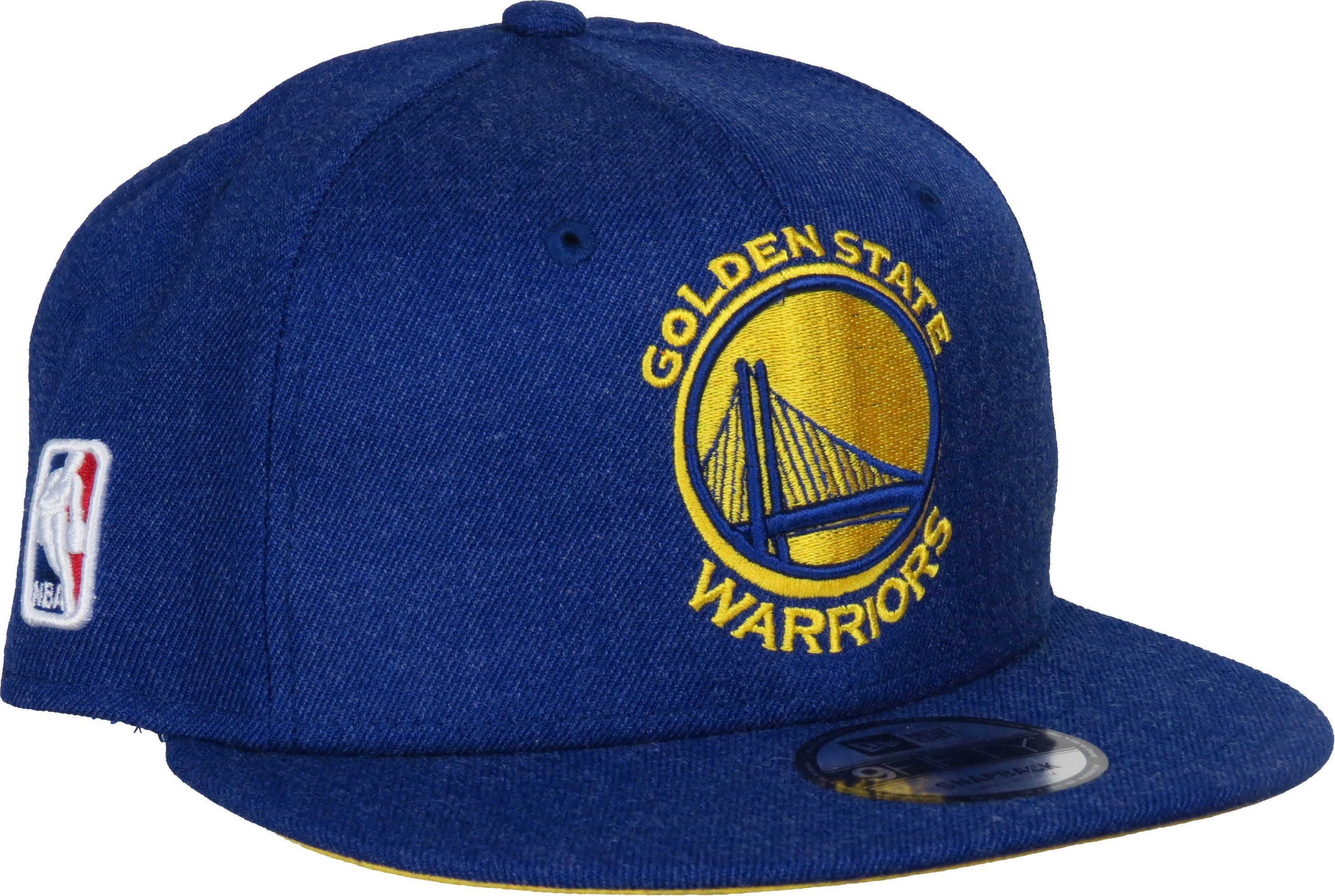 87ef2a744bf New Era 950 NBA Team Heather Snapback Cap. Blue Heather with the Golden  State Warriors