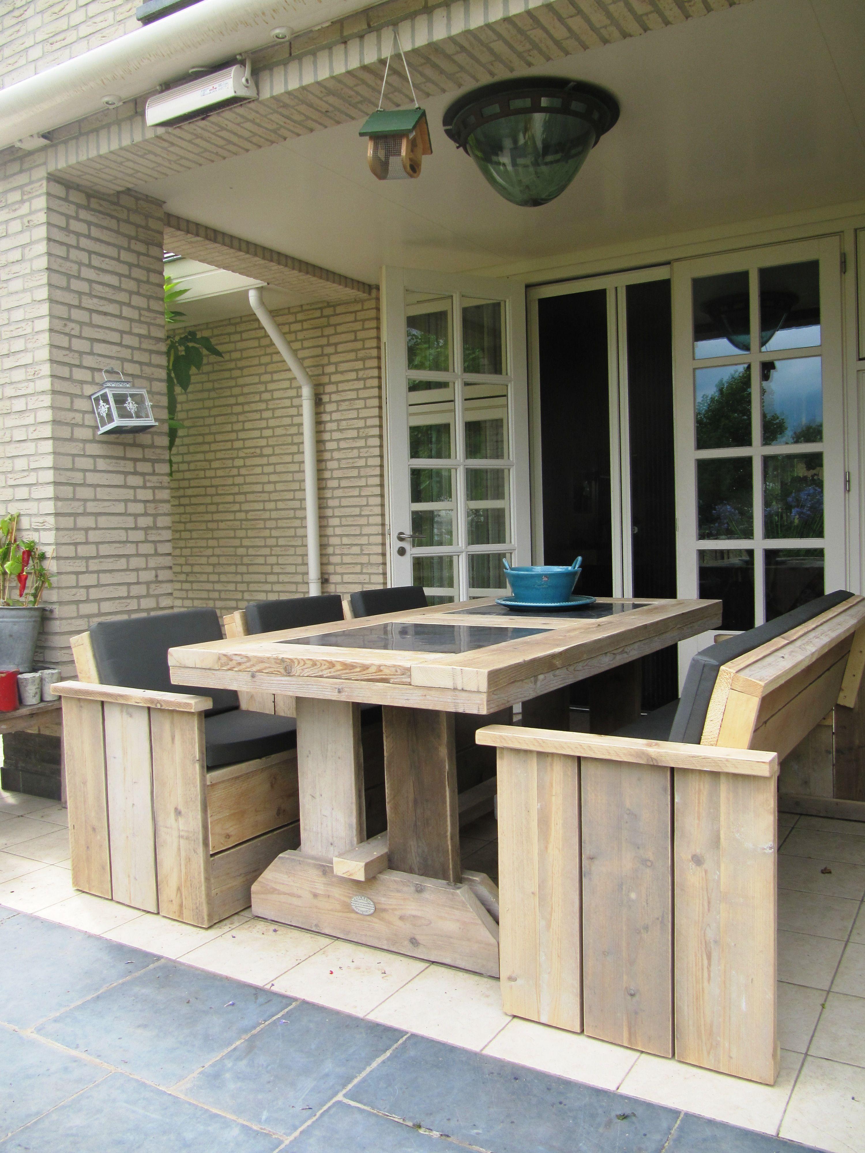 Steigerhouten Eettafel Voor Buiten Tuinmeubelen