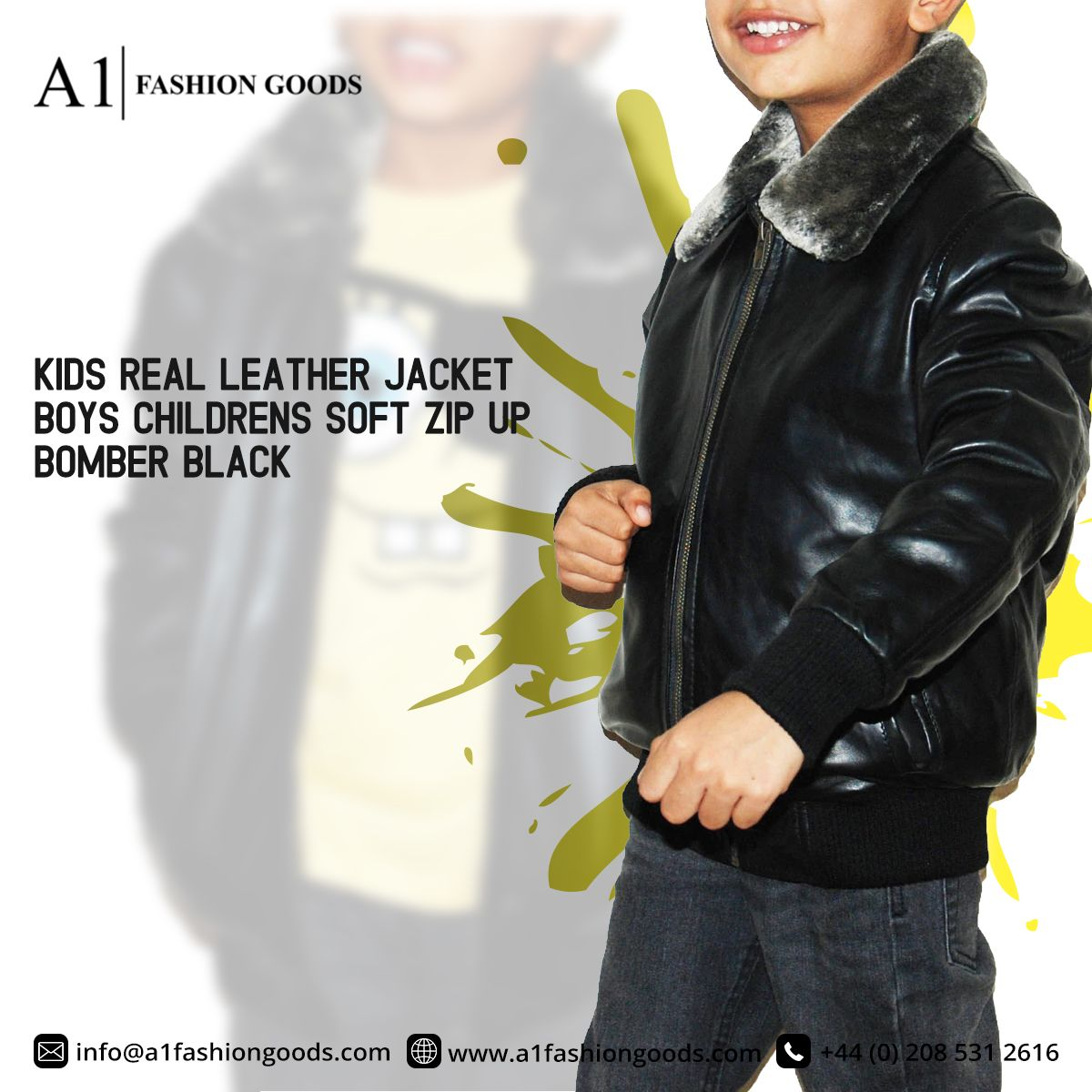 Kids Real Black Leather Bomber Jacket Boys Childrens Soft Zip Up Coat 2 12 Years Black Leather Bomber Jacket Leather Bomber Jacket Real Leather Jacket [ 1200 x 1200 Pixel ]