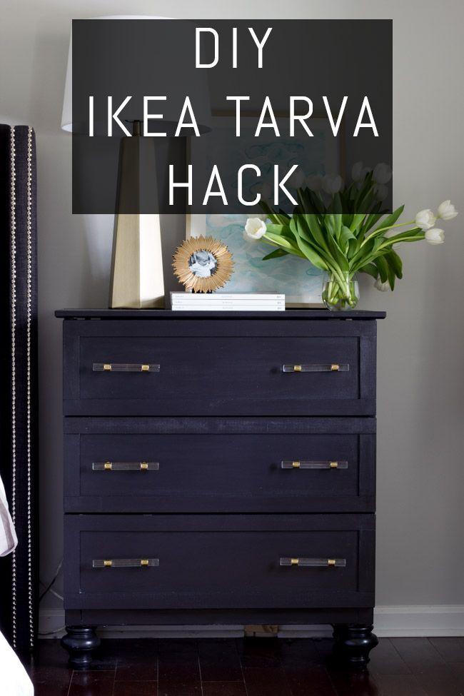 Check out this beautiful DIY IKEA TARVA Hack! Transform this ...