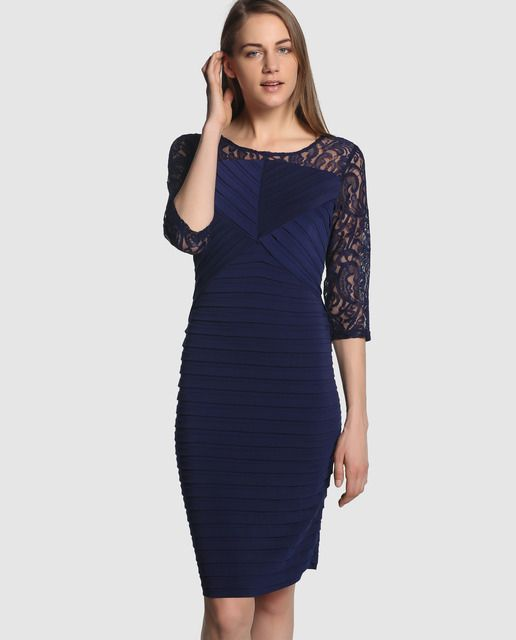 Vestidos cortos en color azul marino