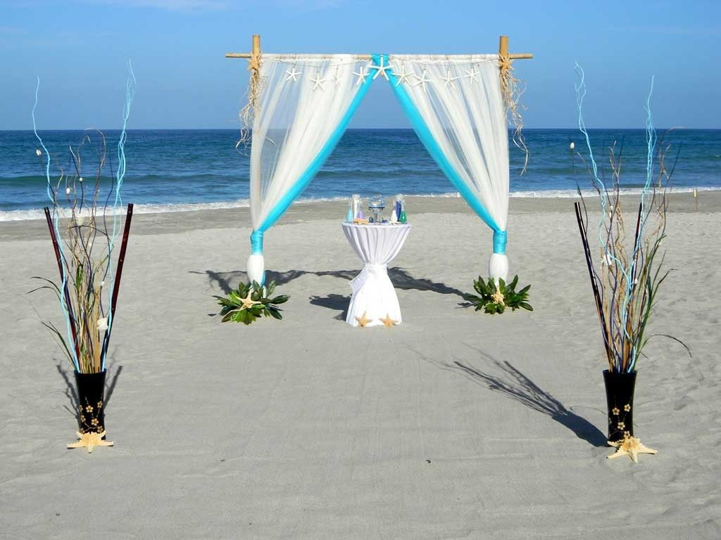 Beach Wedding Arch Decoration Ideas With Beautiful Bamboo Arch Wedding  Ceremony With Vases