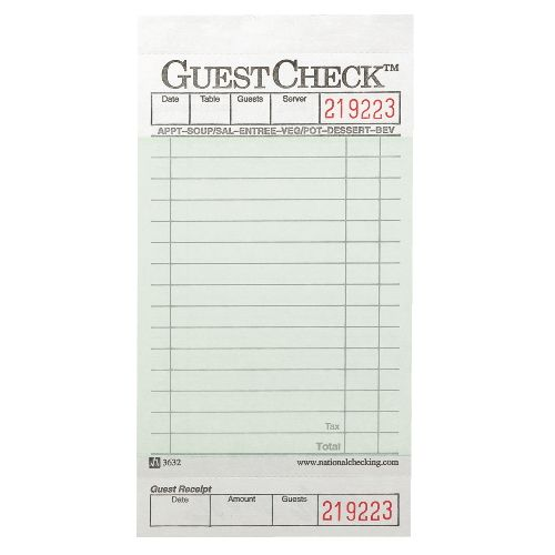 I used this picture in a document o make printable bills order - guest check template