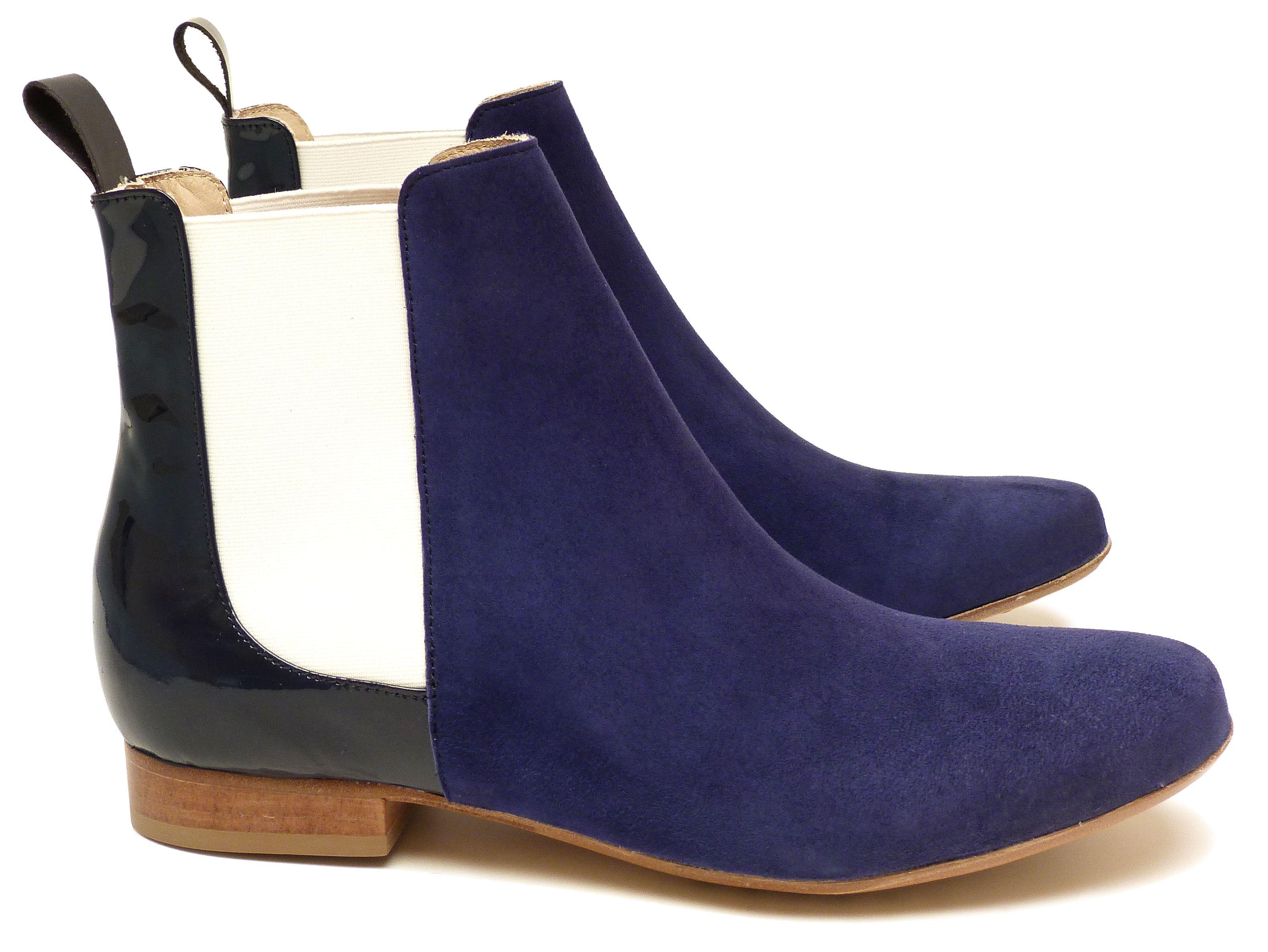 09be0b3e0f16 Chaussures Femme Boots Printemps Eté 2015 Maurice Manufacture BRUCE Chevre  velours encre - Verni encre