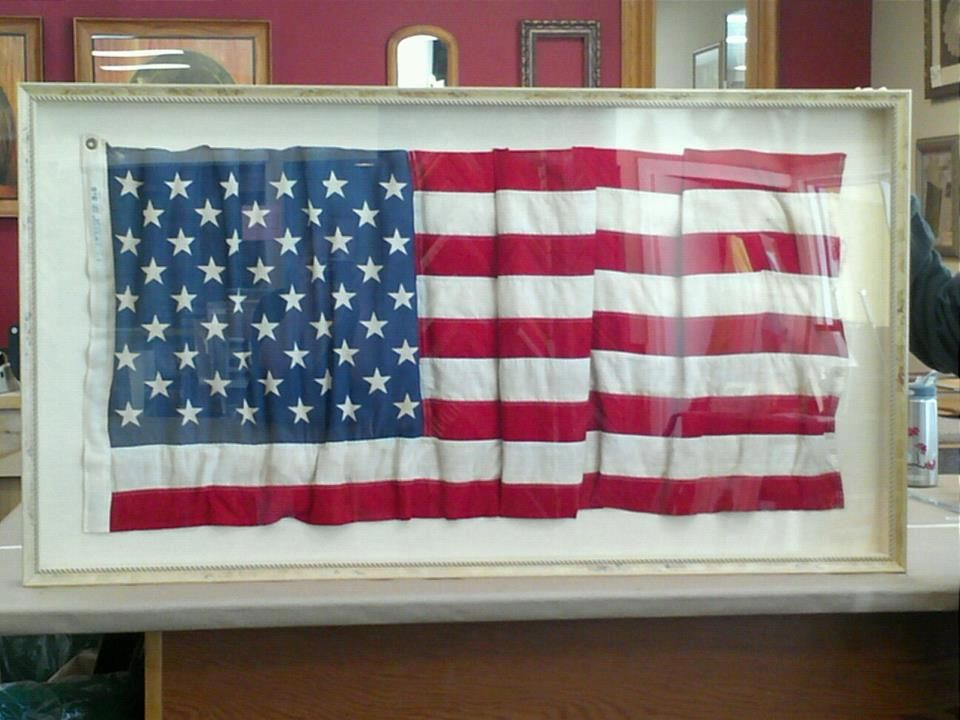 Another Awesome Custom Framed Flag This One A 48 Star