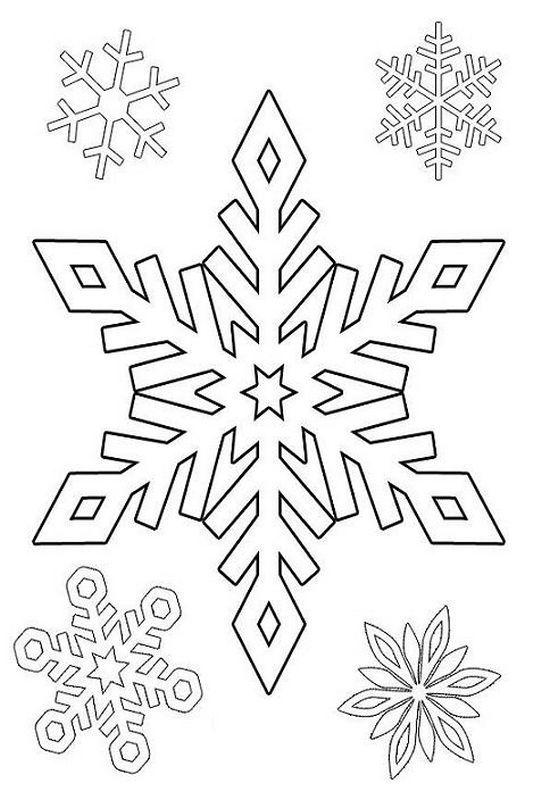 ausmalbild Schnee Sterne | Schneeflockentechnik | Pinterest | Schnee ...