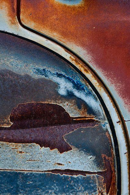 Junkyard Sunset Photographie Texture Rouille Toile Abstraite