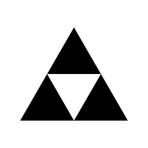 Triforce stencil. Black svg liked on