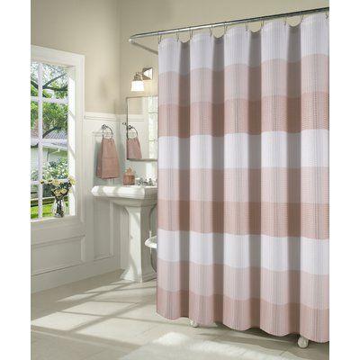 August Grove Mauldin Waffle Weave Fabric Single Shower Curtain