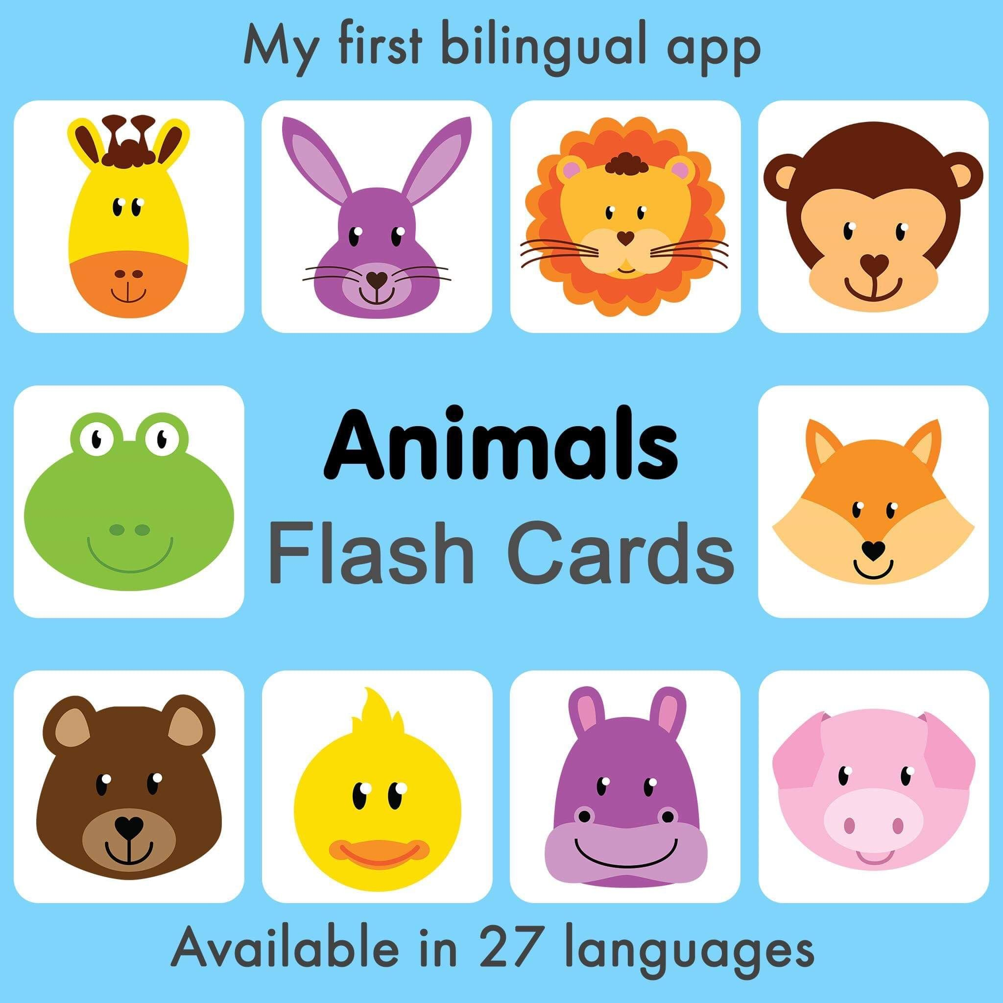 My First 250 Words Bilingual Virtual Flash Cards For Babies And Toddlers 27 Languages Available Downl Toddler Activities Baby Apps Bilingual Children