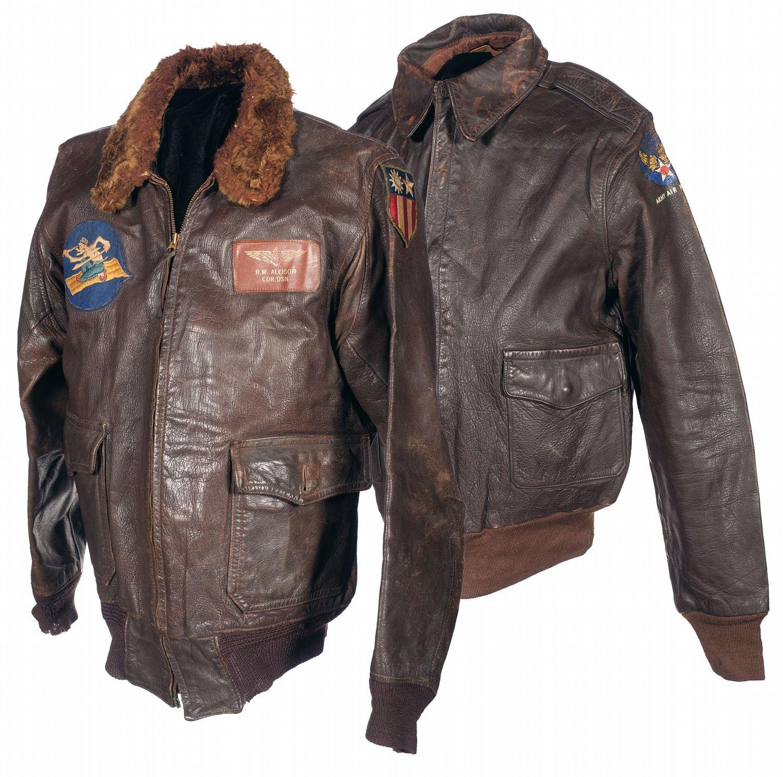 U.S. Navy ANJ3A flight jacket. Name tag on the left