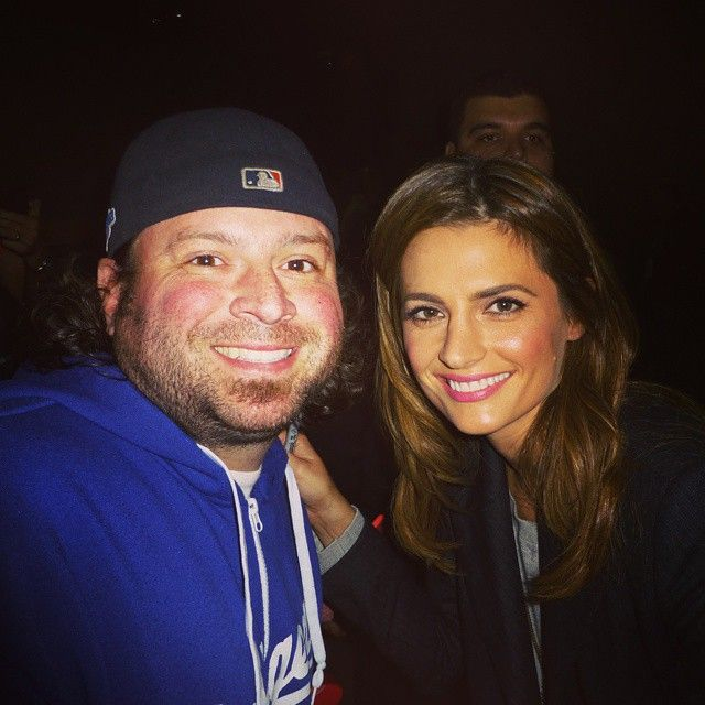 """""""@drstanakatic FINALLY!! Such a sweetheart and stunning tonight! #castle #stanakatic #katebeckett"""""""