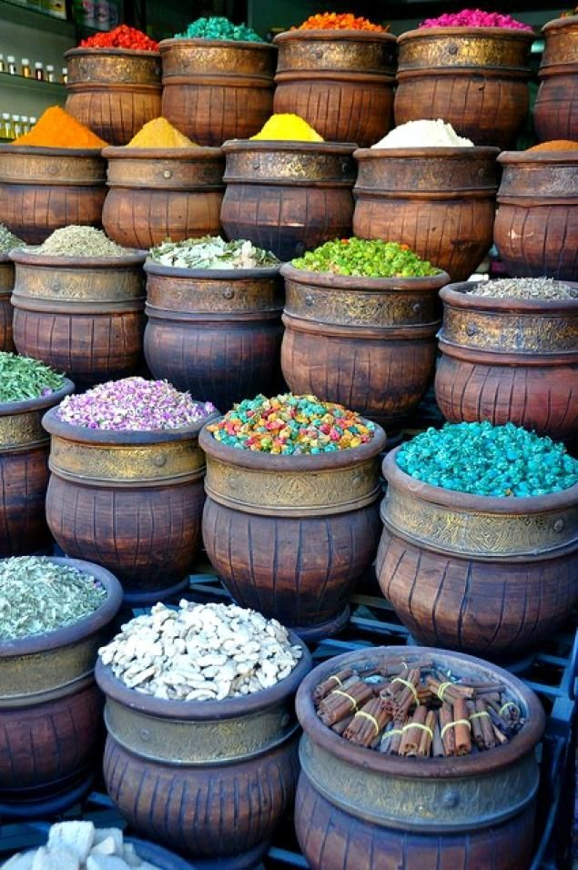 The great silk road: Spices...this is here everyday, but ...